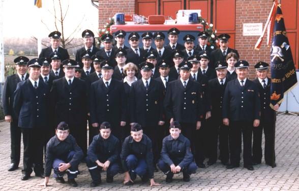Mitglieder Löscheinheit Tripsrath 1998